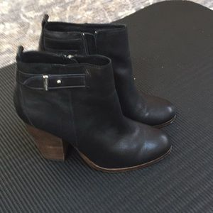 Leather coach booties